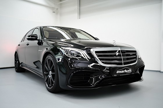 Mercedes-amg S 63 4matic+ Long  AMG EXKLUSIV-PAKET&drivers package + burmester high-end 3d - Markeli-Automobile-München